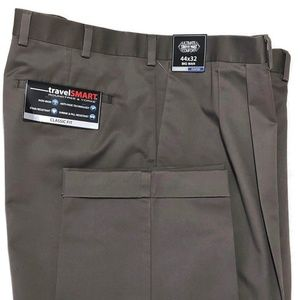 Roundtree & Yorke Travel Smart Pants Slate 44 New